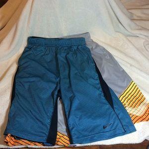 2 Nike youth Sz XL basketball shorts dri-fit
